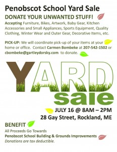Yard Sale Donation Request Poster