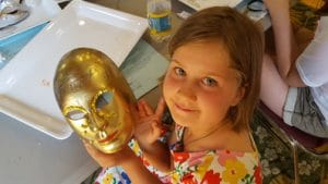 Penobscot Language School Culture Camp - masks