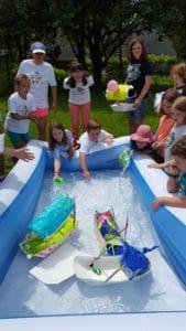Penobscot Language School Culture Camp - boat race
